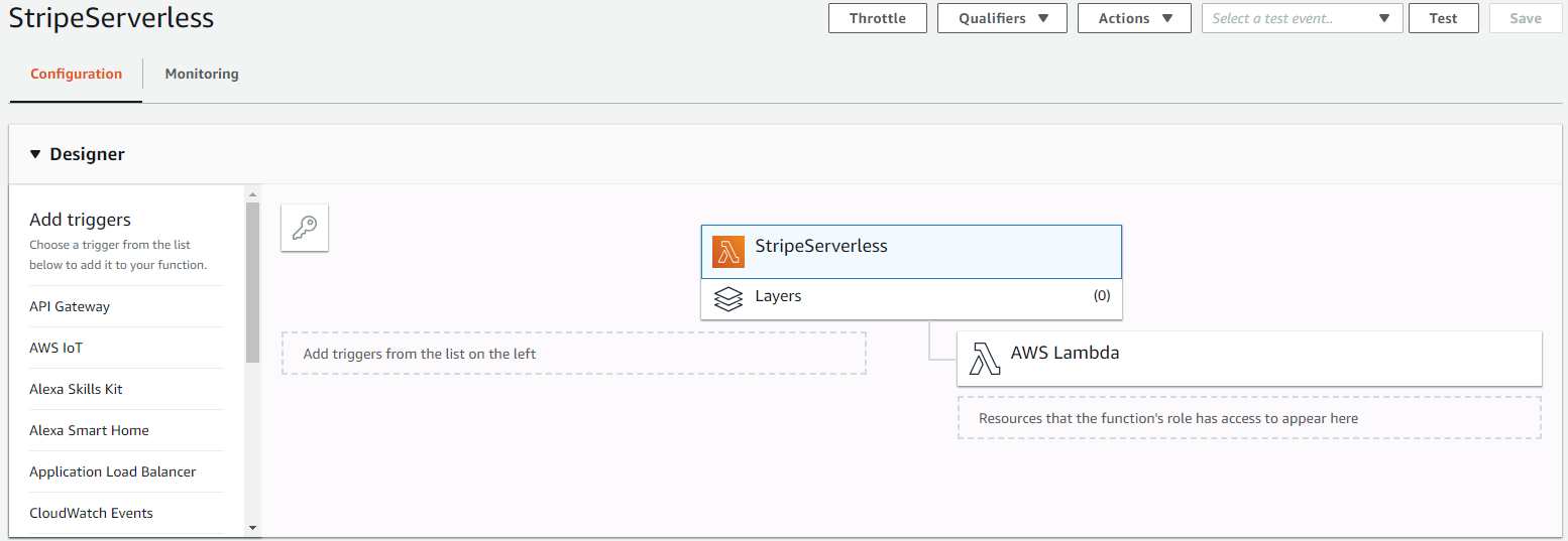 Serverless payment with AWS Lambda and Stripe - Step by Step guide